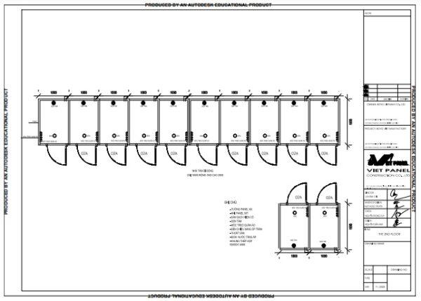 Thiết kế nhà tắm di động 12 buồng