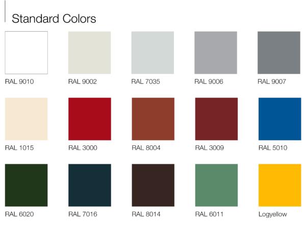 Bảng màu vật liệu panel cách nhiệt Việt Panel